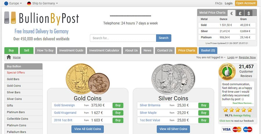 Bullion By Post Review - Scam Or Legit?